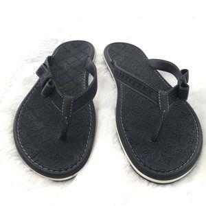 08665abde49a Louis Vuitton black flip flops size 38